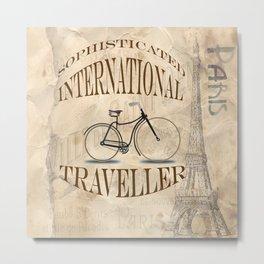 Sophisticated International Traveller Metal Print