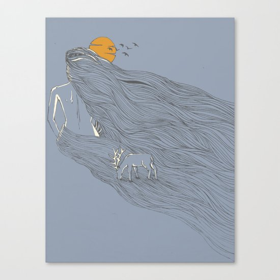 Howl River Canvas Print
