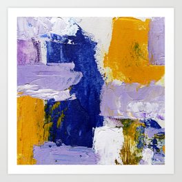 Abstract Expression #9 by Michael Moffa Art Print