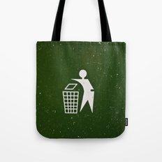 Trash - Put here please! Tote Bag