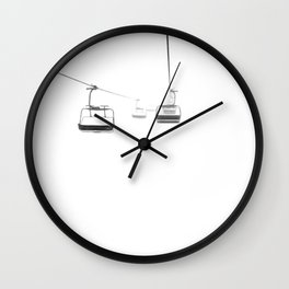 Lifts from and to nowhere Wall Clock