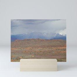 La Sal Mountains, Utah Mini Art Print