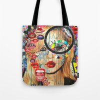 poker Tote Bags featuring Poker Face by Katy Hirschfeld