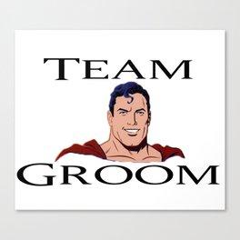 Super man head Team Groom Canvas Print
