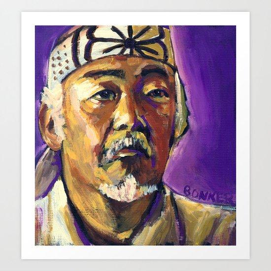 Mr Miyagi Art Print