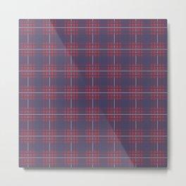 Flannel Plaid Design Pattern Metal Print