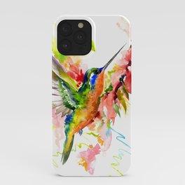 Tropical Hummingbird iPhone Case