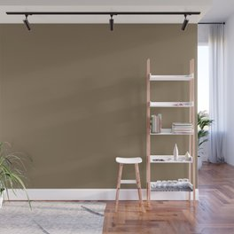 Dried Olive Brown Solid Color Pairs W/ Sherwin Williams 2020 Forecast Color Verde Marron SW9124 Wall Mural