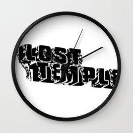 lost temple - black Wall Clock