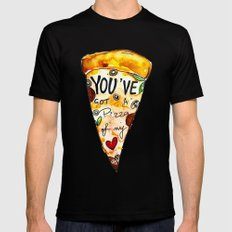 You've got a PIZZA of my Heart Mens Fitted Tee Black MEDIUM