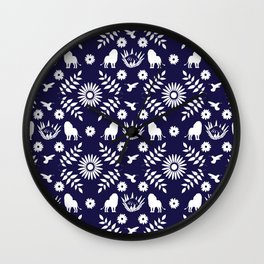 Otomi Lion Wall Clock