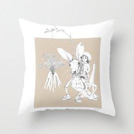 Weird & Wonderful: Harehopper Throw Pillow