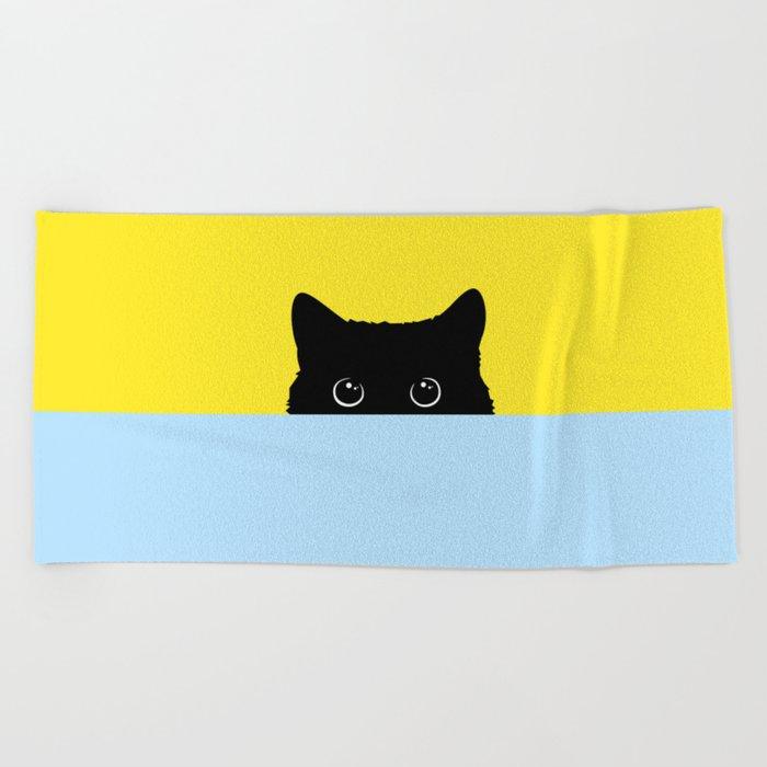 Kitty Beach Towel