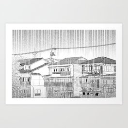 rainy season  Art Print