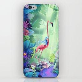 Girl & Flamingo iPhone Skin