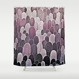 Purple Mermaid Scales Shower Curtain
