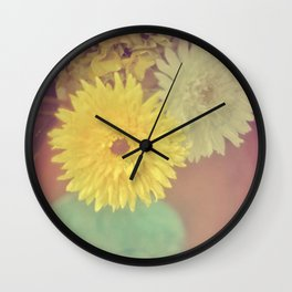 Grandma's House / Vintage Flowers Wall Clock