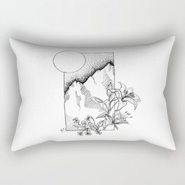 Lillies and Violets Rectangular Pillow