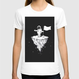 Astronaut Black with flag T-shirt