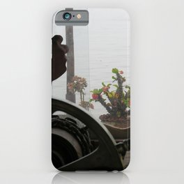 Potted Cactus on a boat Mekong River, Laos iPhone Case