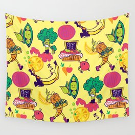 Busy Veggies Wall Tapestry