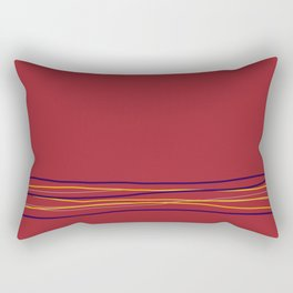 Multi Colored Scribble Line Design Bottom V3 Rustoleum 2021 Color of the Year Satin Paprika & Accent Rectangular Pillow