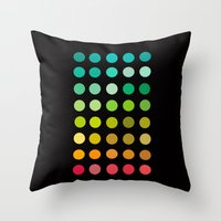 pantone Throw Pillows featuring Pantone by lescapricesdefilles