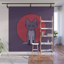 Purple Fox - Kitsune Visits Japan Wall Mural