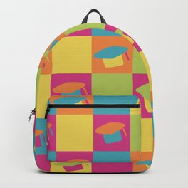 graduation hat (colorful) Backpack