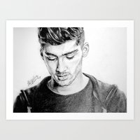 zayn Art Prints featuring Zayn by Drawpassionn