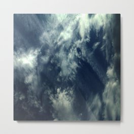 Cloud and sky 10 -cloud, sky, blue, positive,optimism Metal Print