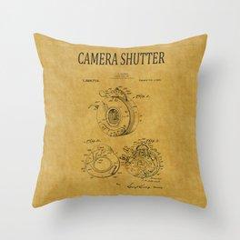 Camera Shutter Patent 1 Throw Pillow