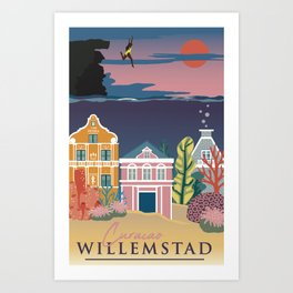 Willemstad Art Print