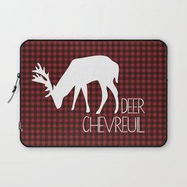 Lumberjack Plaid Deer Laptop Sleeve