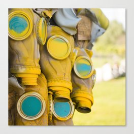 Yellow gas mask Canvas Print