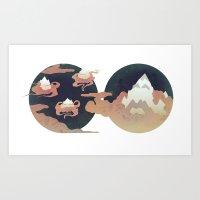 Mountain Men Art Print