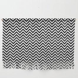 Black and White Chevron Wall Hanging