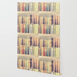 Dream with Books - Love of Reading Bookshelf Collage Wallpaper