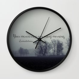 Your Mercies are New  Wall Clock