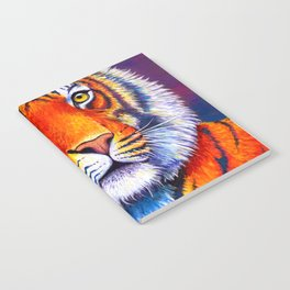 Colorful Bengal Tiger Portrait Notebook