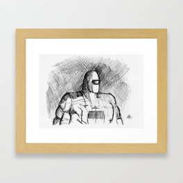 Warbot Sketch #012 Framed Art Print