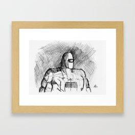 Warbot Sketch #012 Framed Art Print