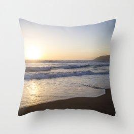 A Southern California Spring Sunset Throw Pillow