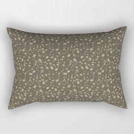 Omnic - Cream and Grey Rectangular Pillow