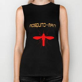 Mosquito Man Insect Comic Saying Funny Blood Super Hero Sucking Gift idea Biker Tank