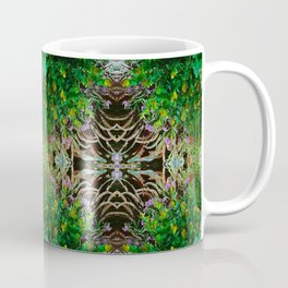 Cocoplum and Cattails op nature pattern Coffee Mug