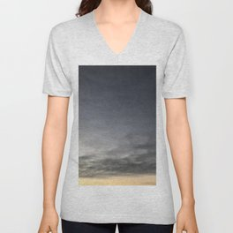 Black Clouds and Sky Unisex V-Neck