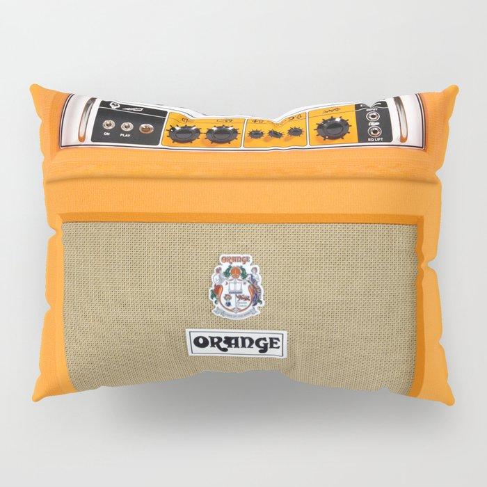Bright Orange color amplifier amp Pillow Sham