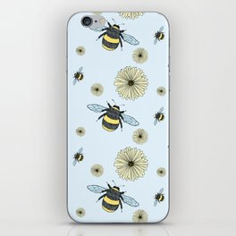 Bumble Bees and Flowers iPhone Skin