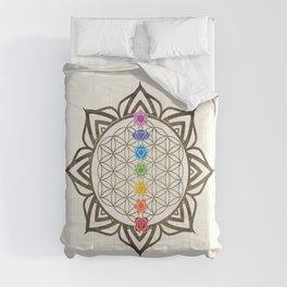 Flower of Life Chakra Healing Mandala Comforters